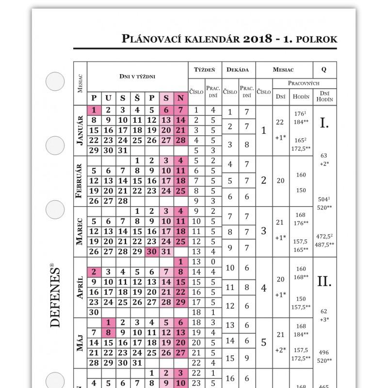 slovensky kalendar Defenes Slovenský kalendár 2018 A6, týždeň / 2 strany   Luxusné perá slovensky kalendar